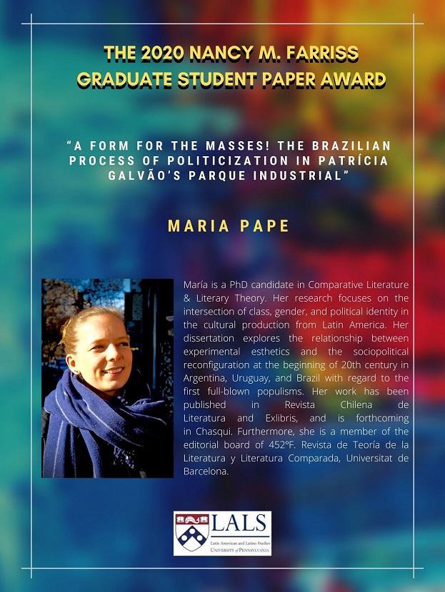 Nancy M. Farriss Graduate Student Paper Award